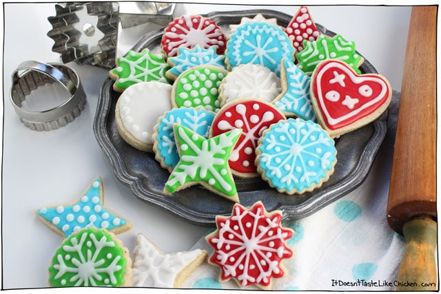 Best Christmas Cookie Icing  Perfect Vegan Sugar Cookies • It Doesn t Taste Like Chicken