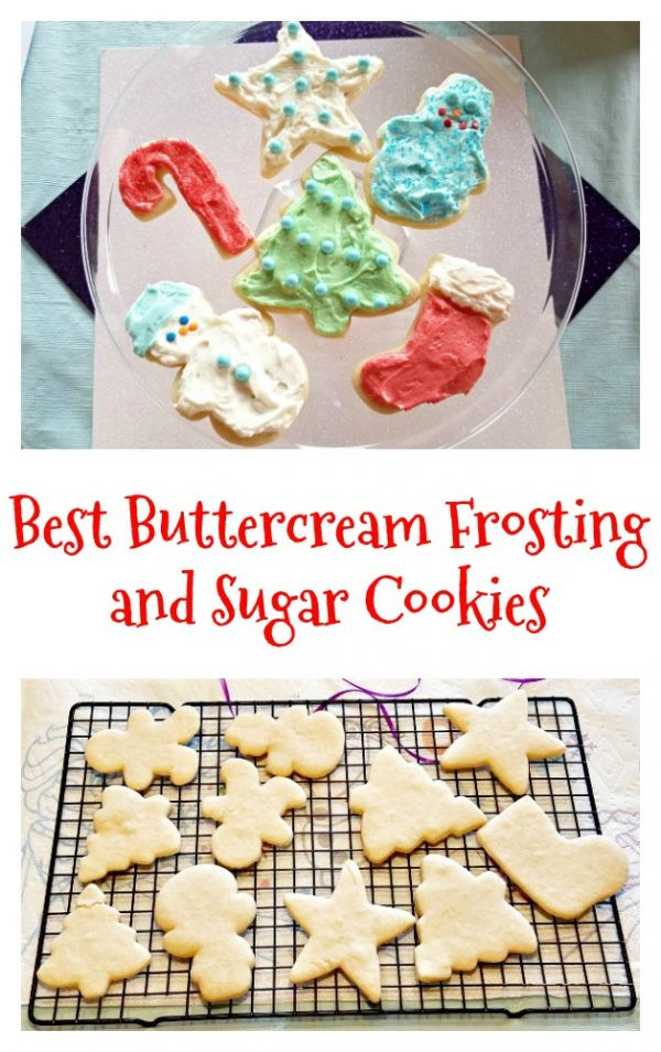 Best Christmas Cookie Icing  BEST Buttercream Frosting Recipe and Sugar Cookies