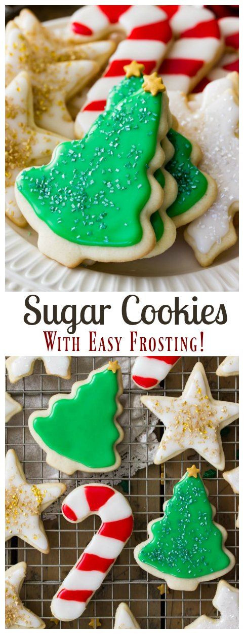 Best Christmas Cookie Icing  Simply the BEST Sugar Cookie Recipe with an easy to make