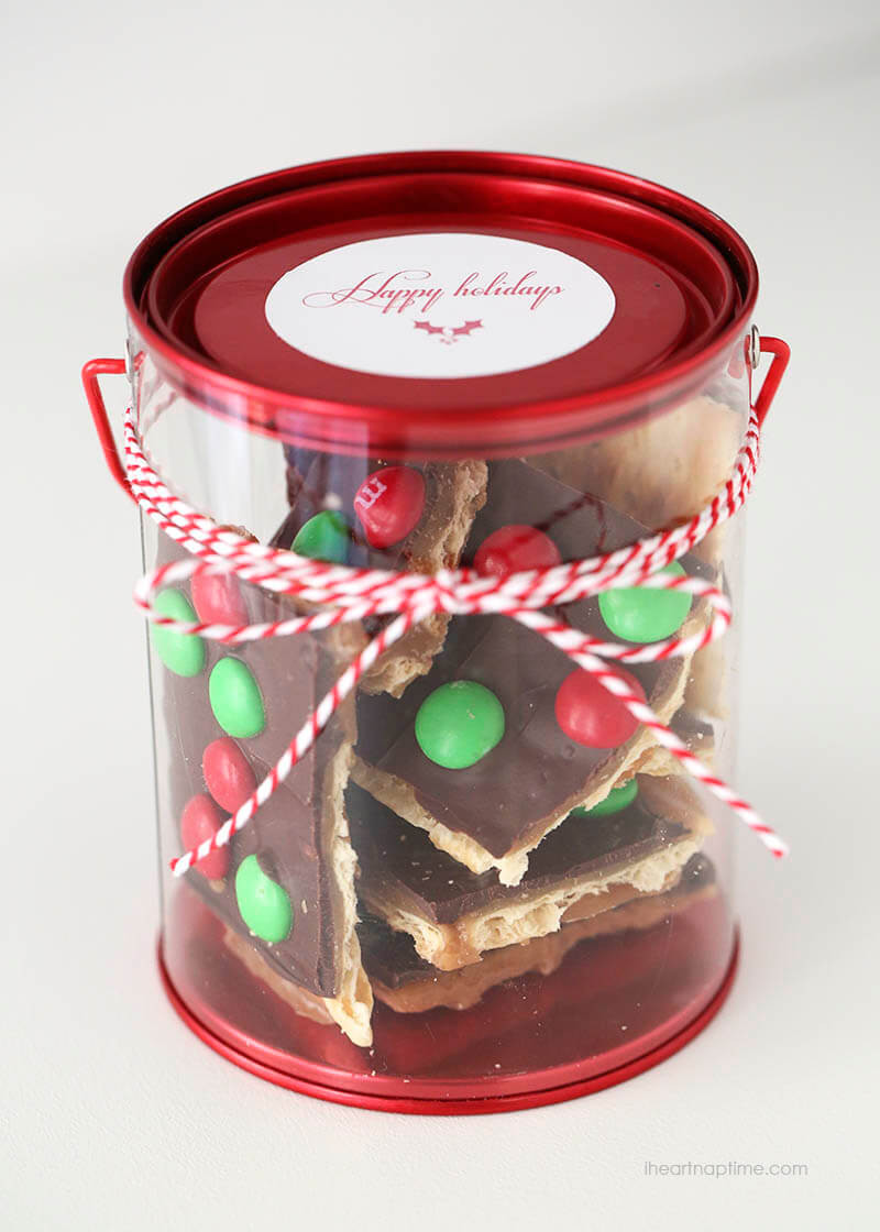 Best Christmas Food Gifts  BEST Christmas Crack Toffee Recipe only 15 mins I