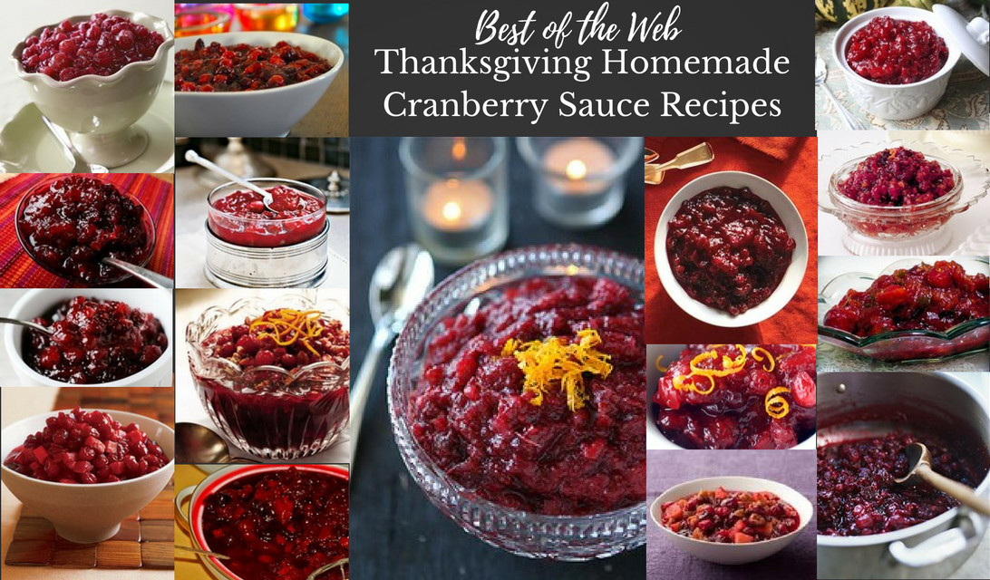 Best Cranberry Recipes Thanksgiving  Best of the Web Thanksgiving Homemade Cranberry Sauce Recipes