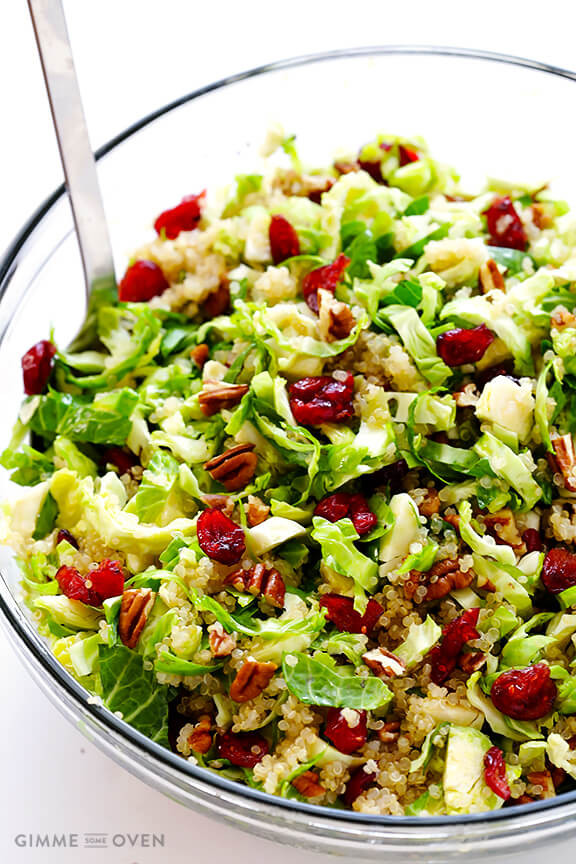 Best Salads For Thanksgiving  Brussels Sprouts Cranberry and Quinoa Salad