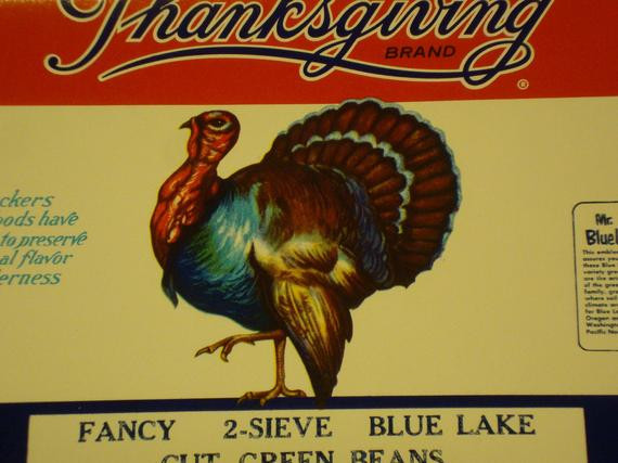 Best Turkey Brand For Thanksgiving  Thanksgiving Brand Blue Lake Cut Green BEans by TinkersShop