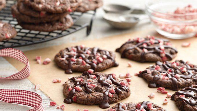 Betty Crocker 3 Ingredient Christmas Swirl Fudge  Peppermint Fudge Brownie Cookies recipe from Tablespoon