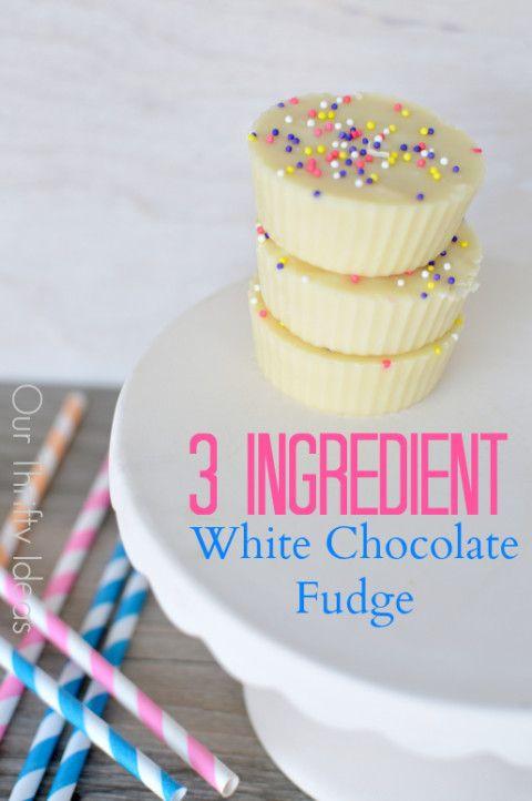 Betty Crocker 3 Ingredient Christmas Swirl Fudge  Such an easy fudge recipe This white chocolate fudge only