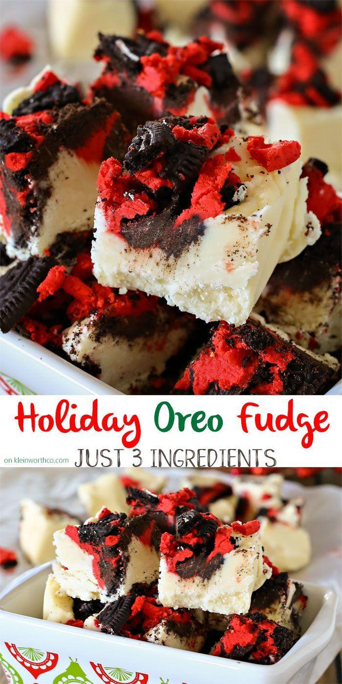 Betty Crocker 3 Ingredient Christmas Swirl Fudge  17 Best images about Christmas Desserts on Pinterest
