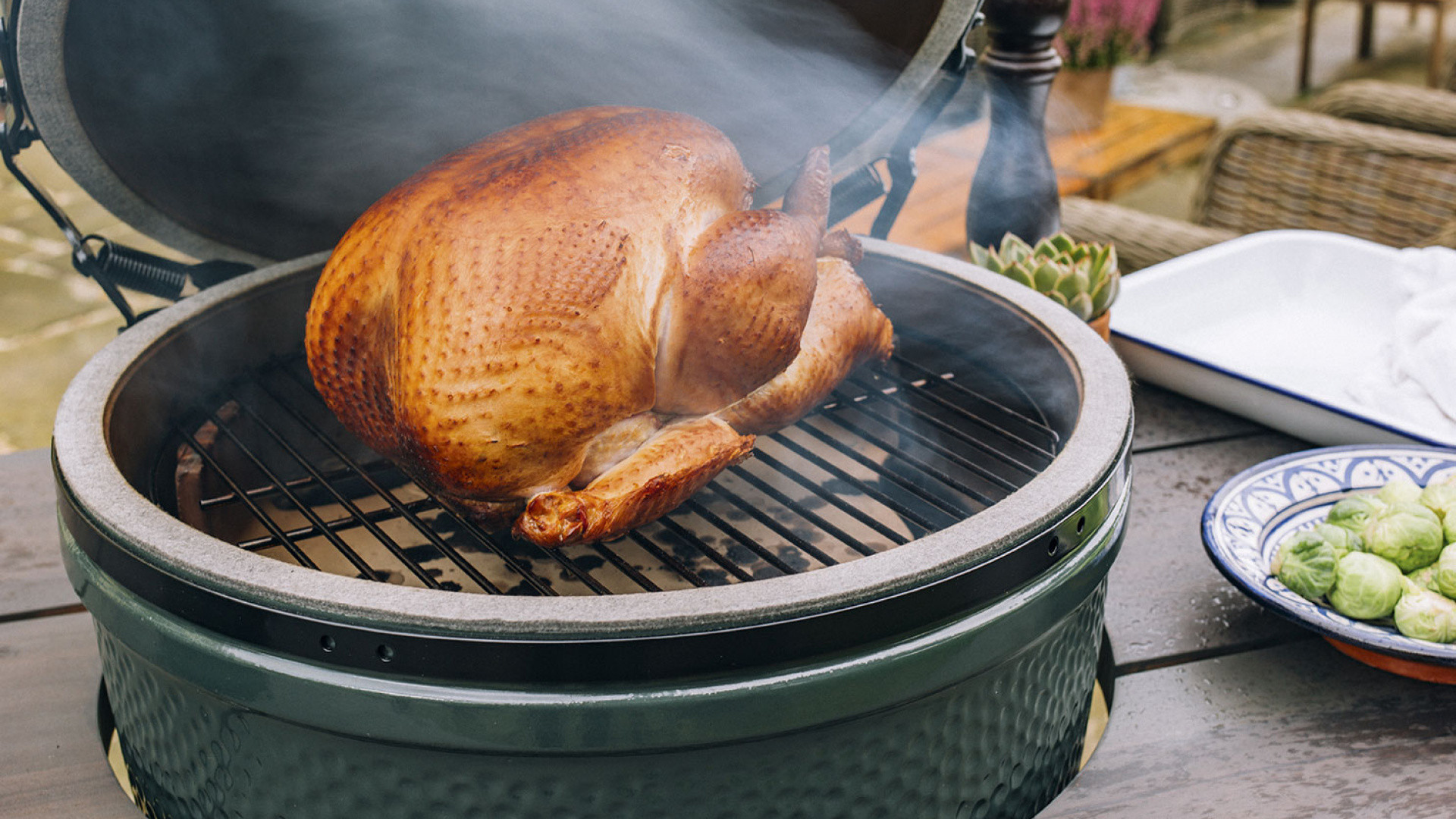 Big Green Egg Thanksgiving Turkey  Make the perfect turkey this year with Big Green Egg
