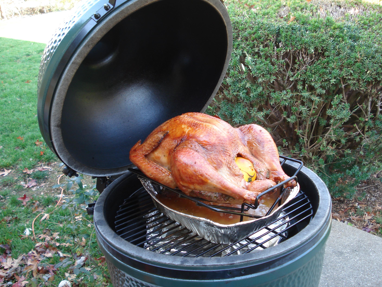 Big Green Egg Thanksgiving Turkey  First Post First Turkey on the BGE — Big Green Egg