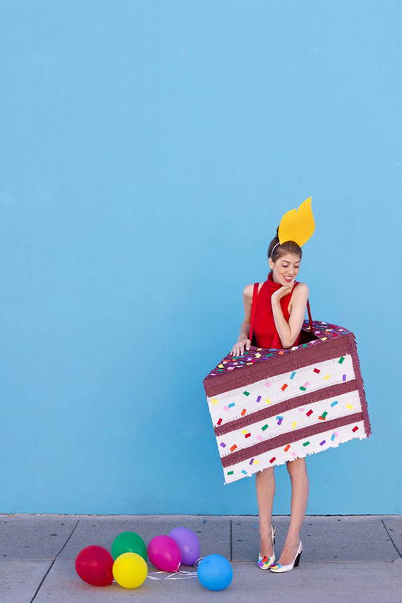 Birthday Cake Halloween Costume  18 Creative Cardboard Box Costumes Etsy Journal