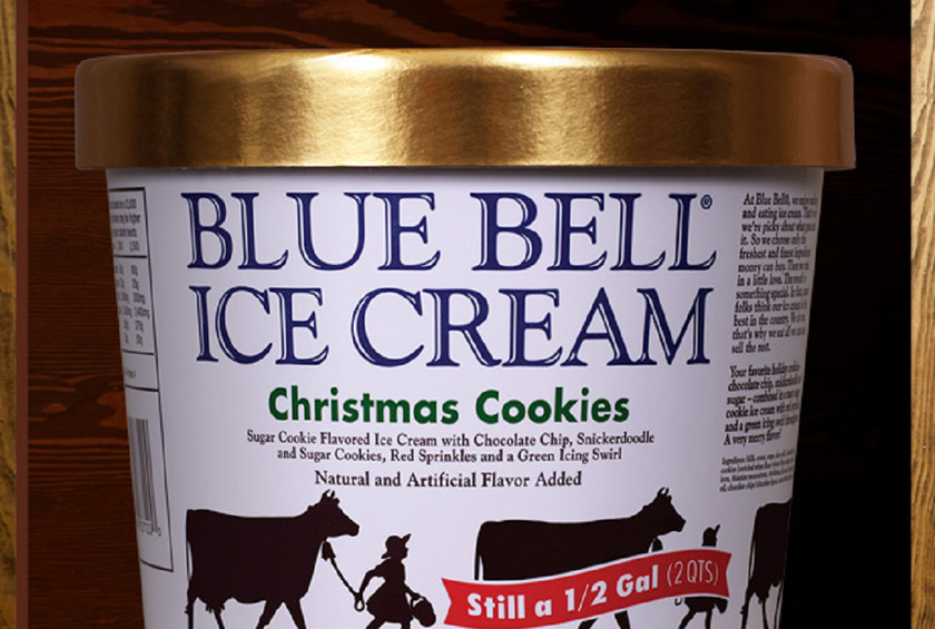 Blue Bell Christmas Cookies  Blue Bell Ice Cream s Limited Edition 'Christmas Cookies