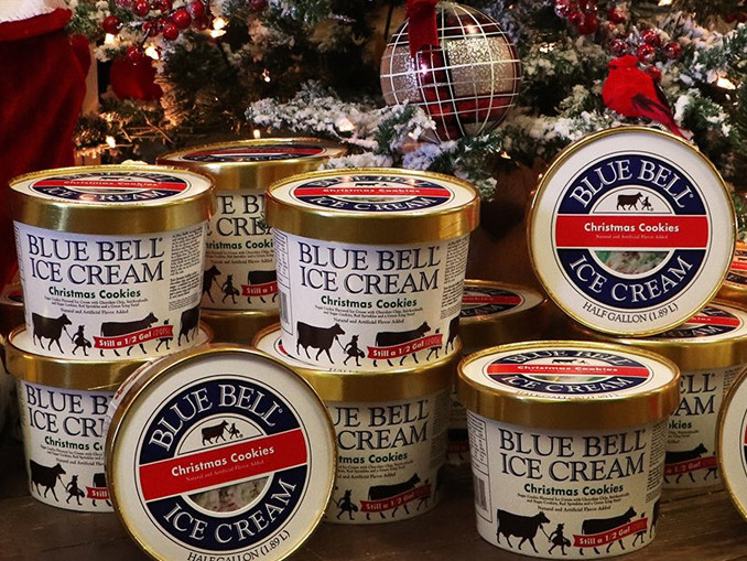 Blue Bell Christmas Cookies  Blue Bell Wel es Back Christmas Cookies Ice Cream For
