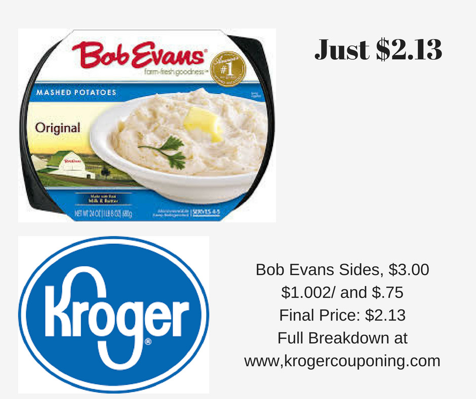 Bob Evans Thanksgiving Dinner 2019  Bob Evans Side Dish as low as $2 13 Kroger Couponing