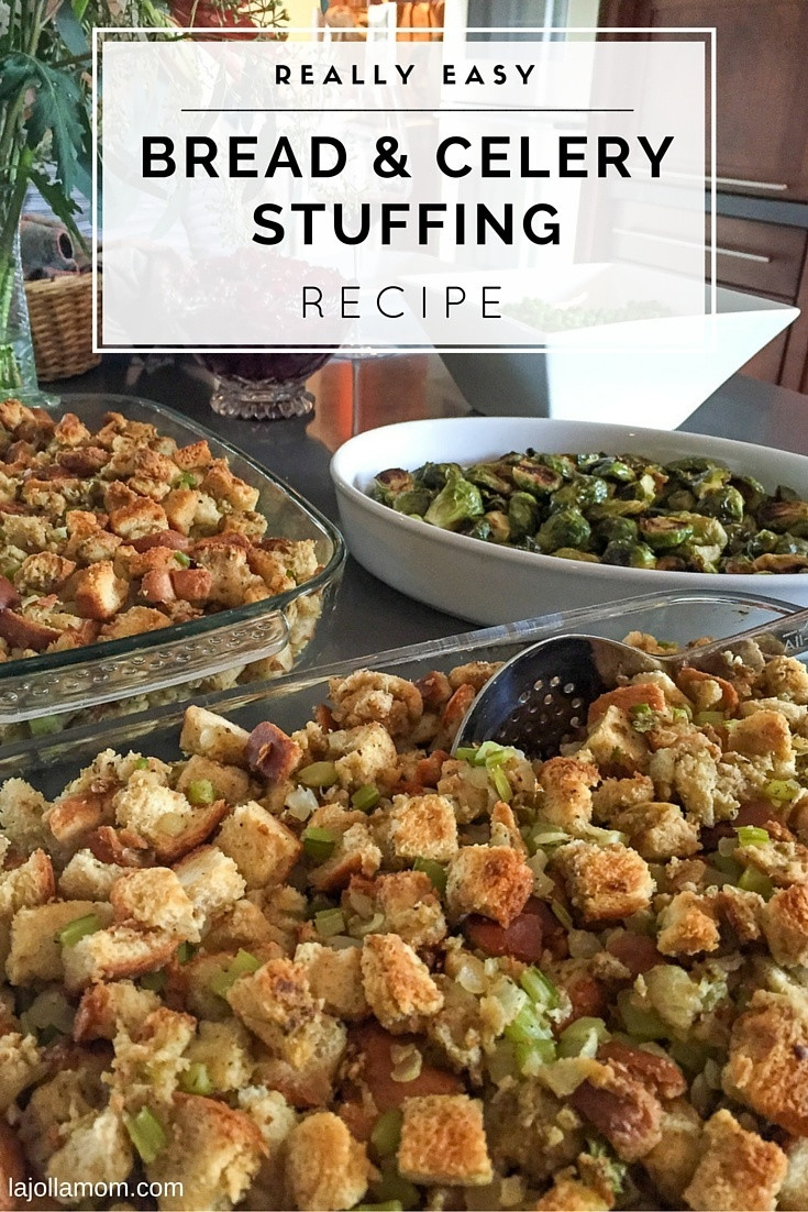 Bread Dressing For Thanksgiving  Bread and Celery Stuffing Recipe