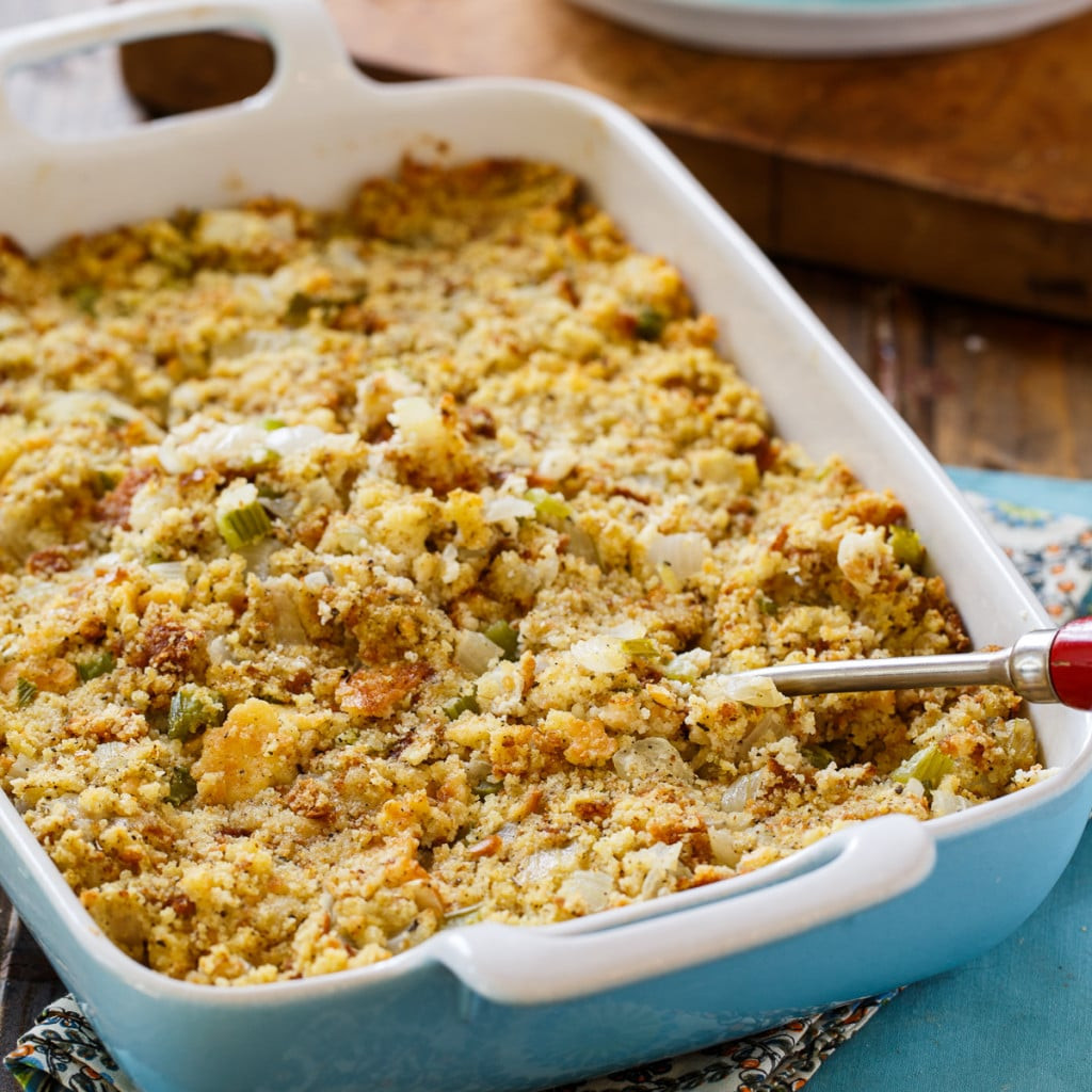 Bread Dressing For Thanksgiving  Southern Cornbread Dressing Spicy Southern Kitchen