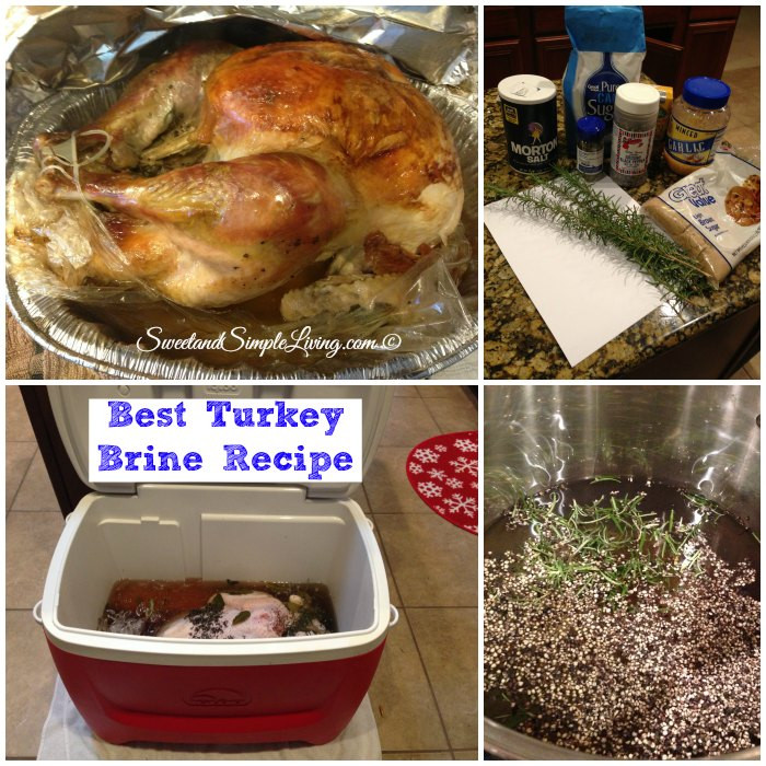 Brining Turkey Recipes Thanksgiving  Best Turkey Brine Recipe Sweet and Simple Living