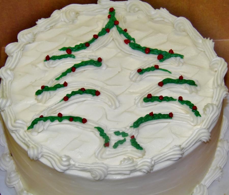 Buttercream Christmas Cakes  buttercream contemporary christmas tree cake cake by