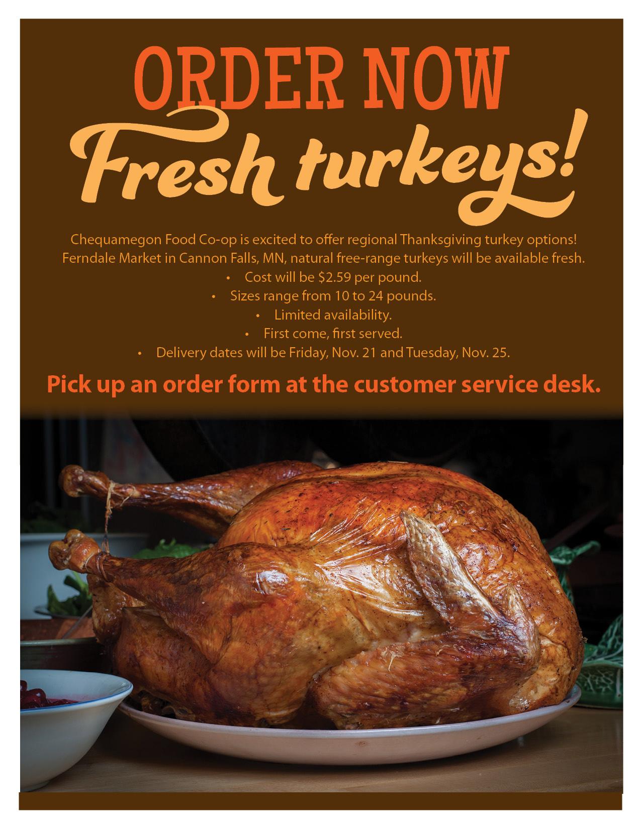 Buying Thanksgiving Turkey  Order Your Thanksgiving Turkey line Chequamegon Food