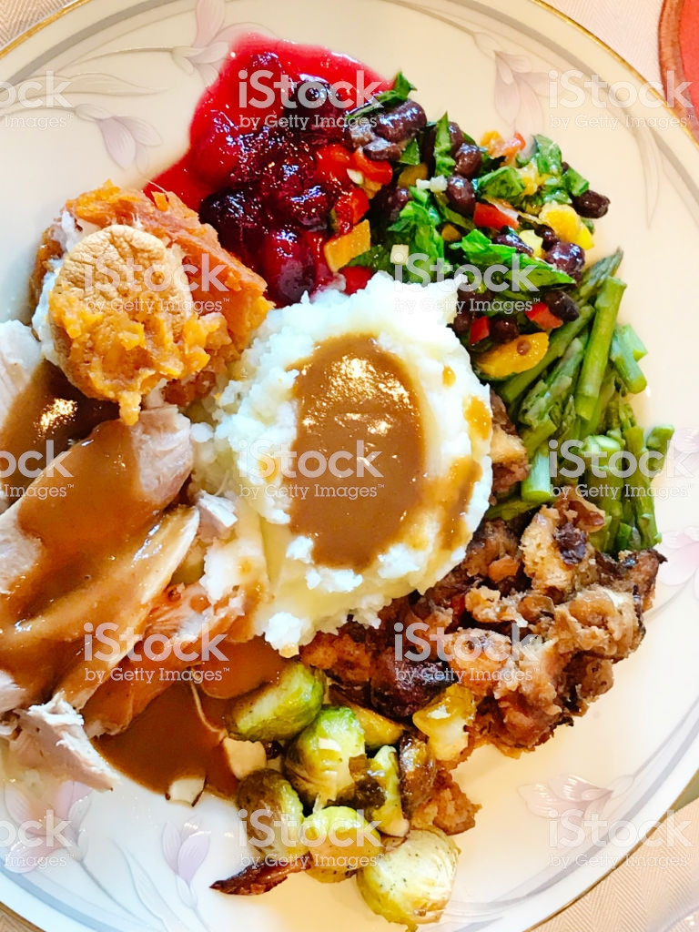 Byerlys Thanksgiving Dinners  Thanksgiving Dinner Plate With Roast Turkey Dinner Stock