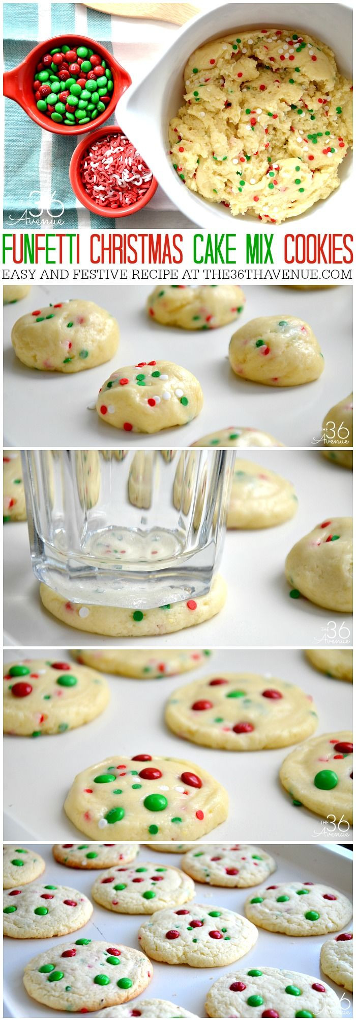 Cake Mix Christmas Cookies  Funfetti Christmas Cake Mix Cookies s and