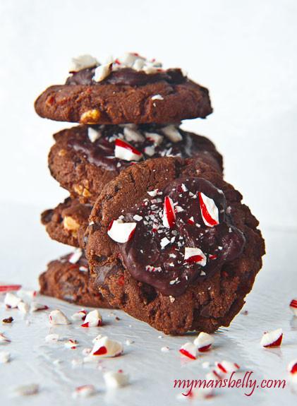Cake Mix Christmas Cookies  Chocolate Peppermint Kiss Cake Mix Christmas Cookies