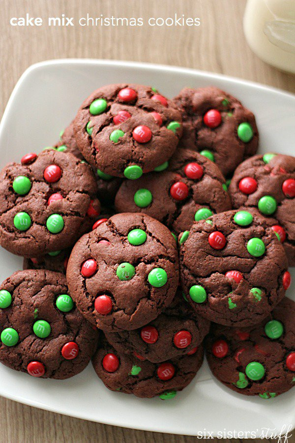 Cake Mix Christmas Cookies  Cake Mix Christmas Cookies – Six Sisters Stuff