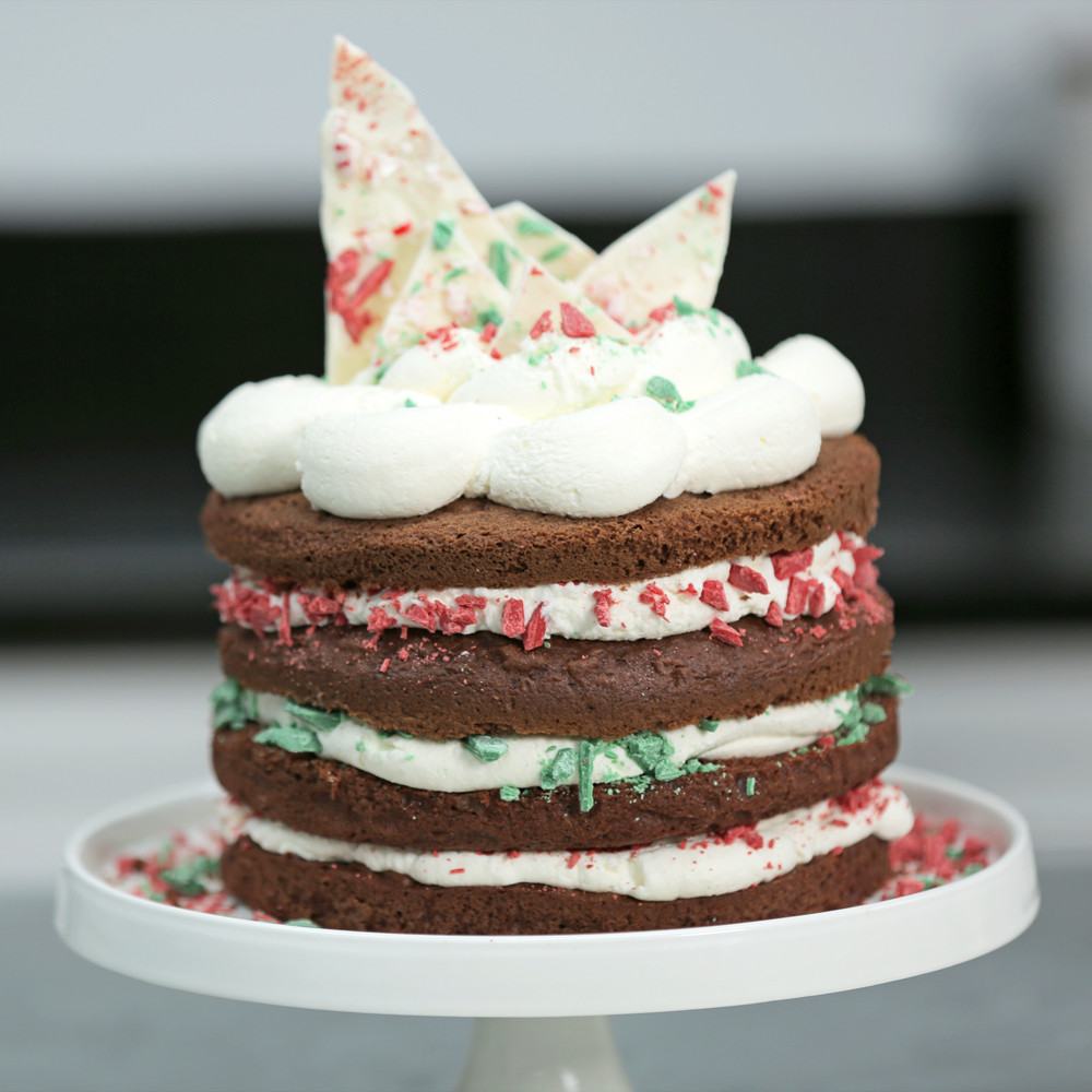 Cakes Recipes For Christmas  Easy Chocolate Christmas Cake from a Box Recipe