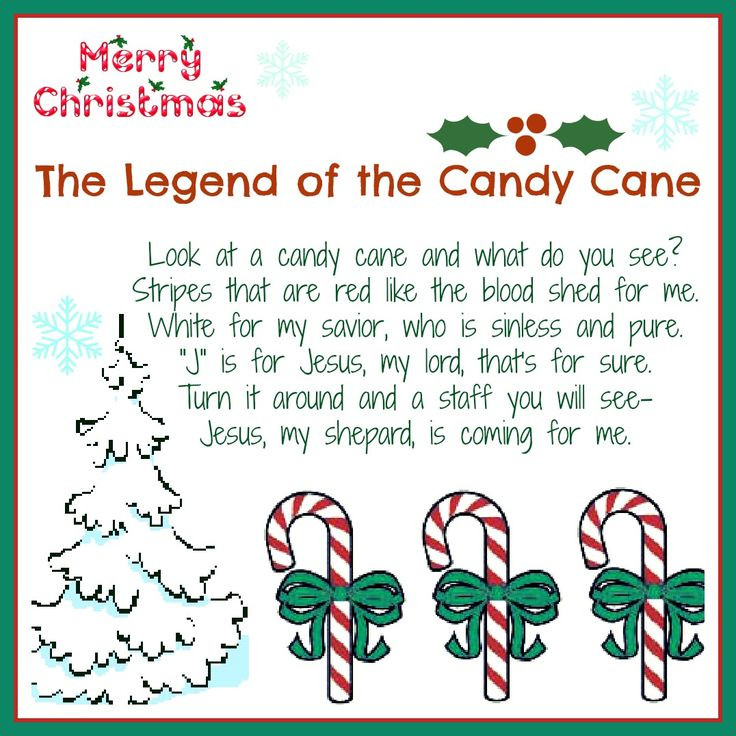 Candy Cane Christmas Poem  Best 25 Candy cane poem ideas on Pinterest