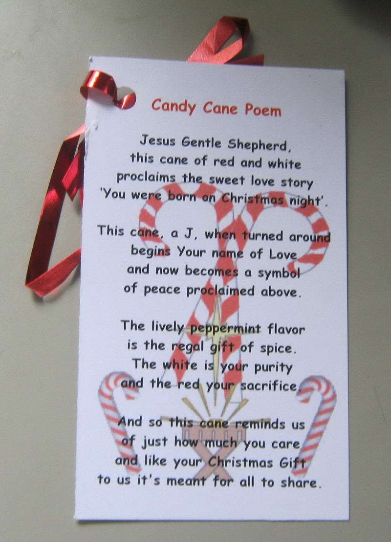 Candy Cane Christmas Poem  Candy Cane Sayings Quotes QuotesGram