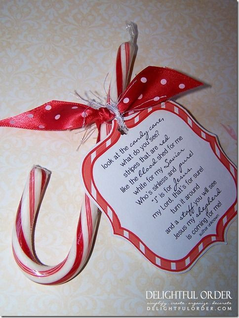 Candy Cane Christmas Poem  Family Fun Printables