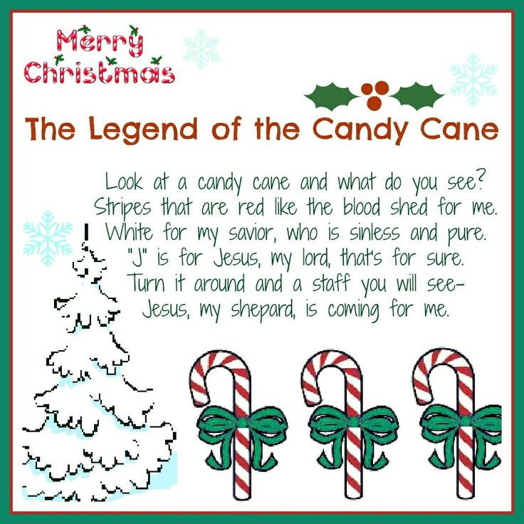 Candy Cane Christmas Poem  Pin by Susan Mickey D on Christmas food crafts