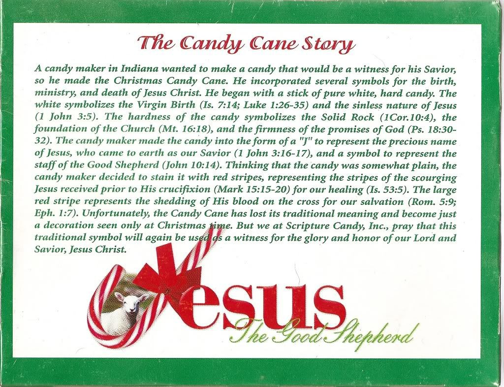 Candy Cane Christmas Poem  The Candy Cane Bible Legend
