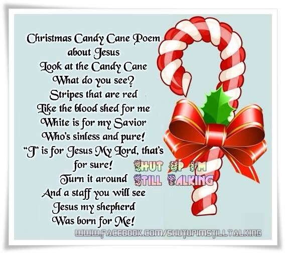 Candy Cane Christmas Poem  Candy cane Christmas Pinterest