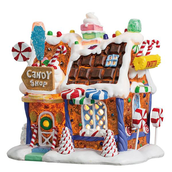 Candy Cane Christmas Shop  Candy Cane Lane Lemax Sugar n Spice Village – Gift Spice