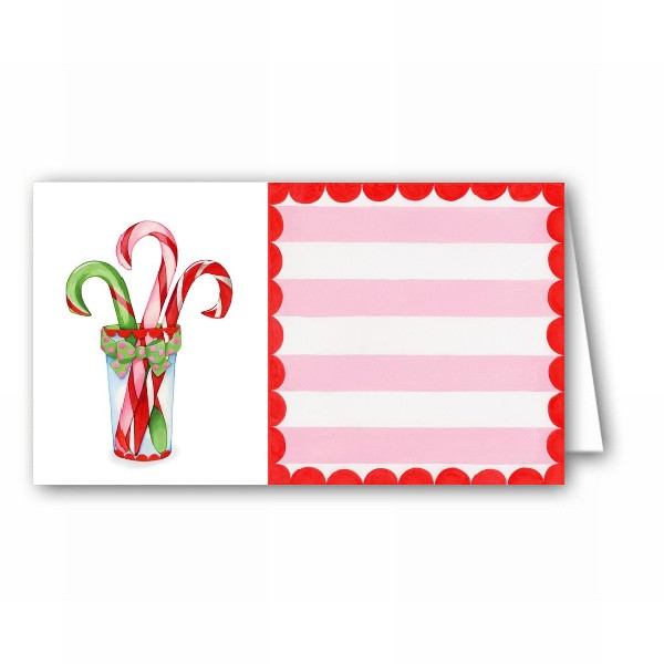 Candy Cane Christmas Shop  Christmas Candy Cane Shoppe Placecards