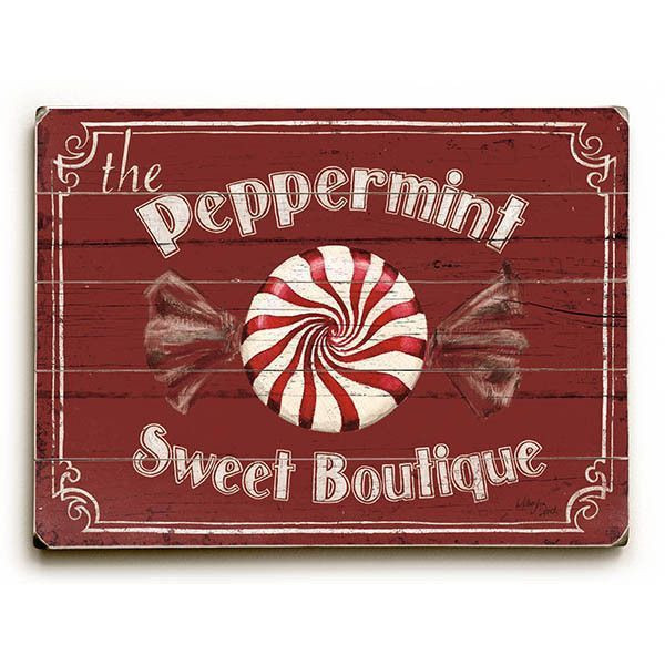 Candy Cane Christmas Shop  Holiday Candy Shops Wood Sign dulceria