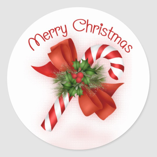Candy Cane Christmas Shop  Candy Cane Christmas Stickers