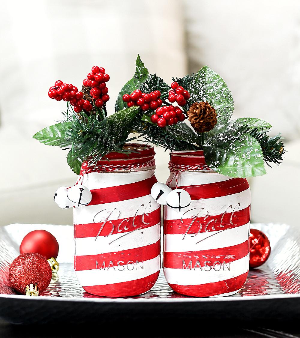 Candy Cane Christmas Shop  Candy Cane Mason Jars Mason Jar Crafts Love