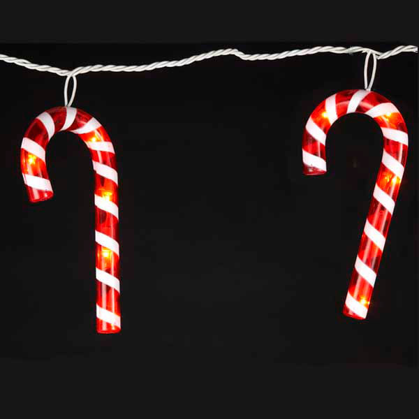 Candy Cane Led Christmas Lights  Christmas Novelty Lights Oogalights More Than