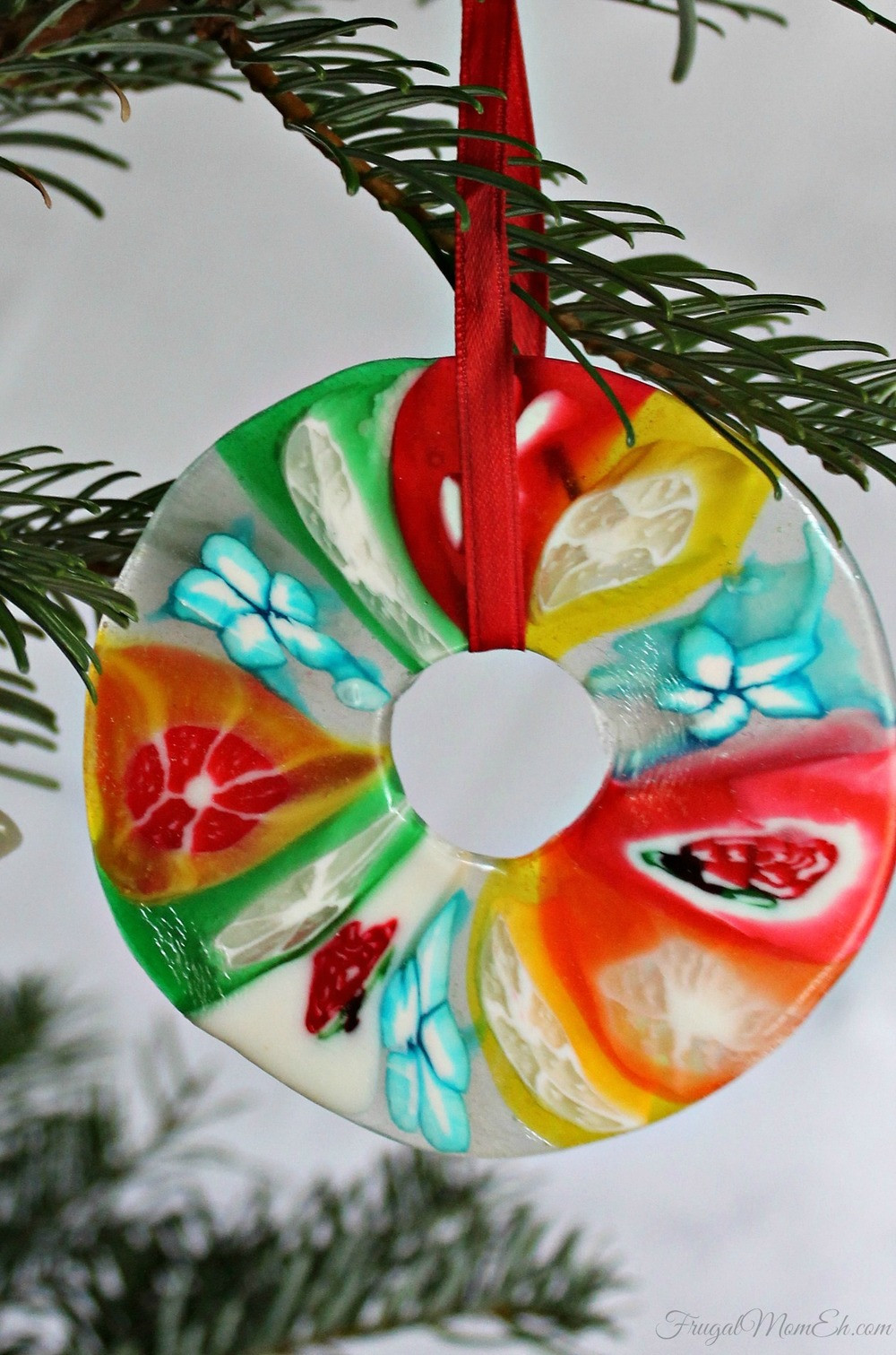 Candy Christmas Ornaments  Melted Candy Christmas Ornament Craft