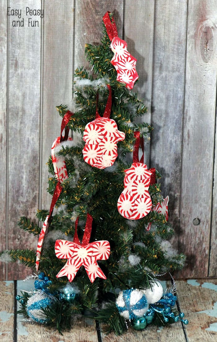 Candy Christmas Ornaments  Peppermint Candy Ornaments DIY Christmas Ornaments