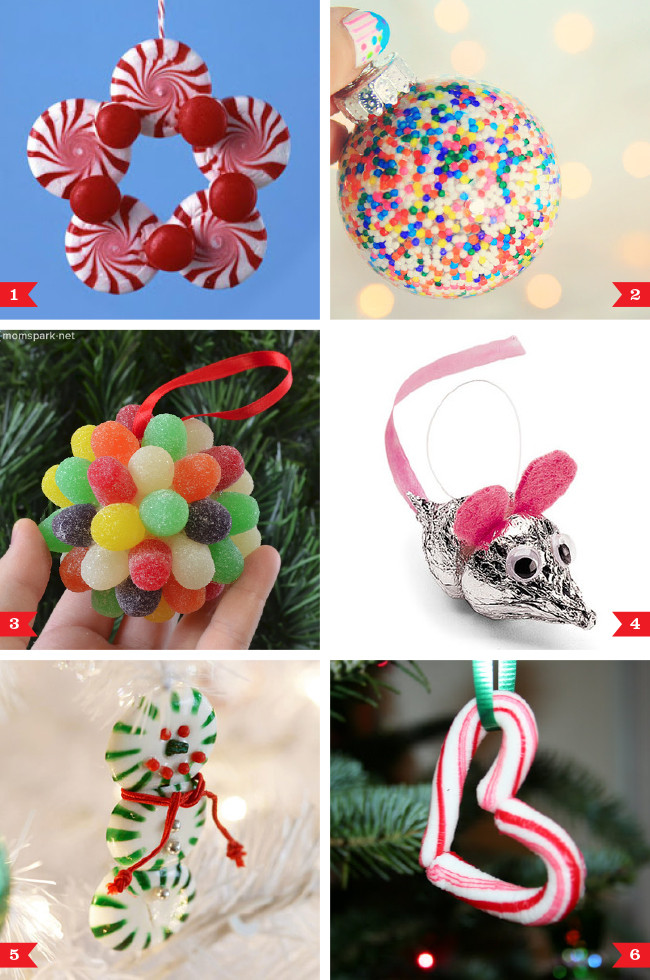 Candy Christmas Ornaments  DIY Christmas ornaments made from candy