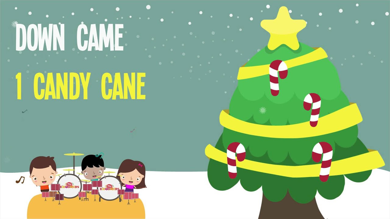 Candy Christmas Songs  Five Candy Canes Kids Christmas Songs Lyrics