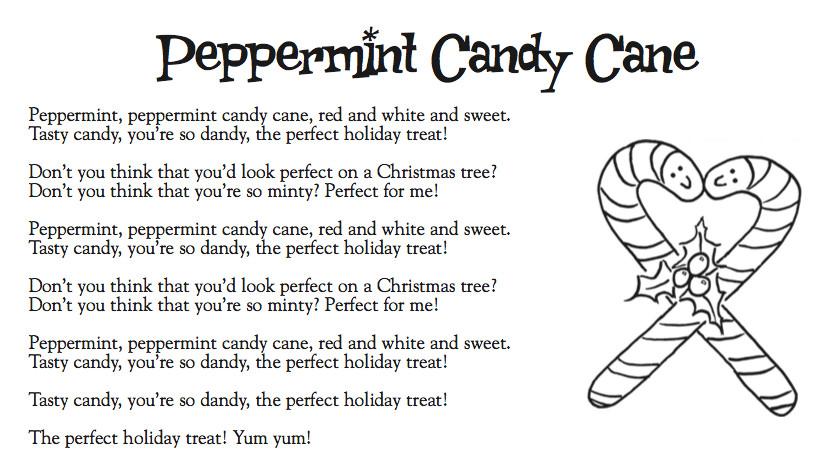 Candy Christmas Songs  Cranston Music Kinder Lyrics