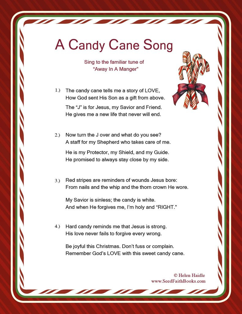 Candy Christmas Songs  Candy Cane Legend Song PDF