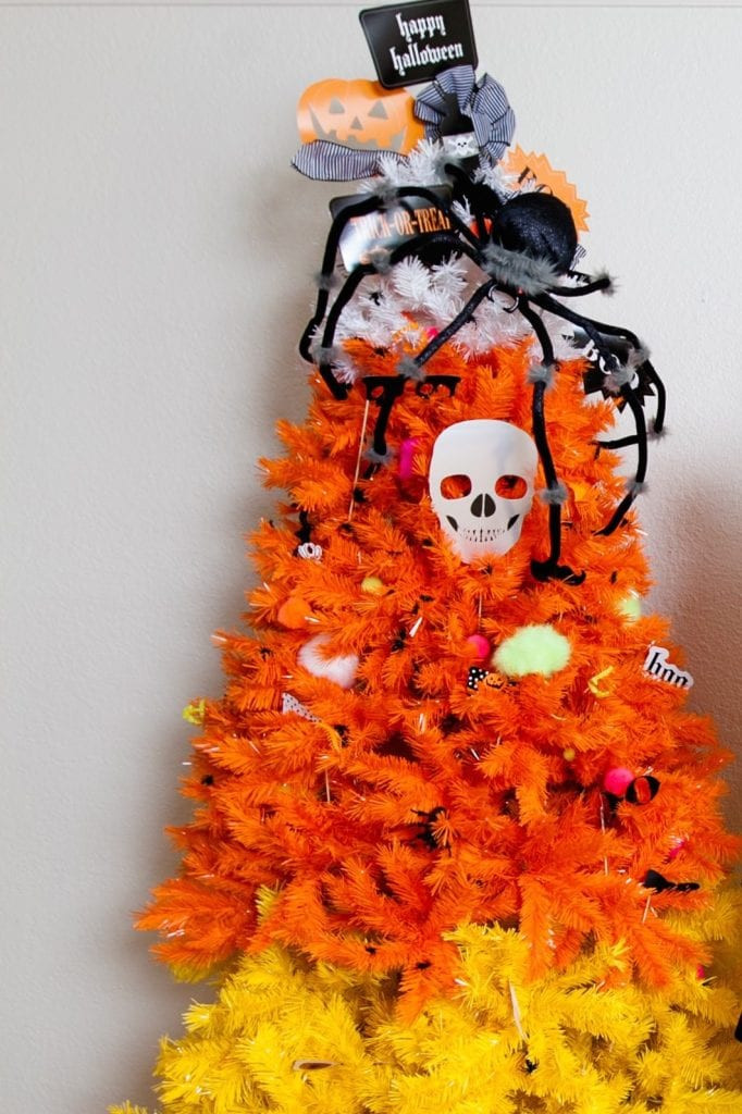 Candy Corn Christmas Tree  Jennifer Perkins' Halloween Candy Corn Christmas Tree