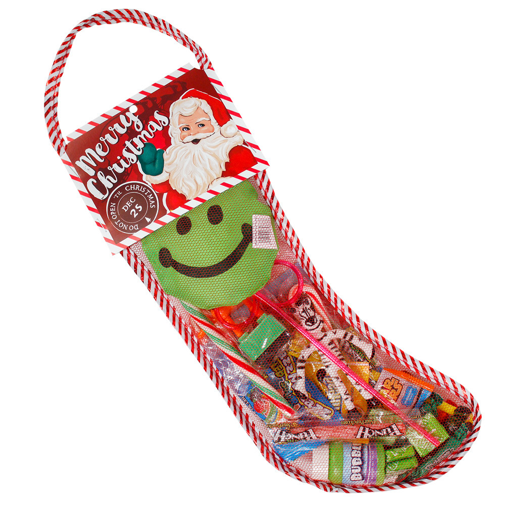 """Candy Filled Christmas Stockings Wholesale  FILLED CHRISTMAS STOCKING 15"""" from American Carnival Mart"""