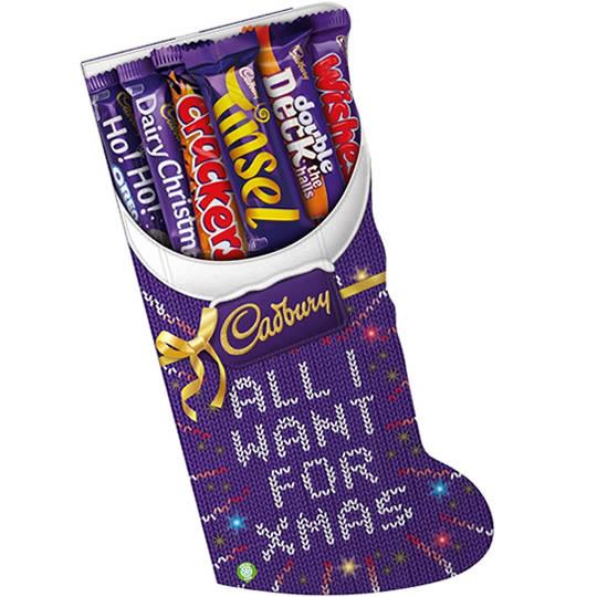 Candy Filled Christmas Stockings Wholesale  Cadbury Chocolate Christmas Stocking