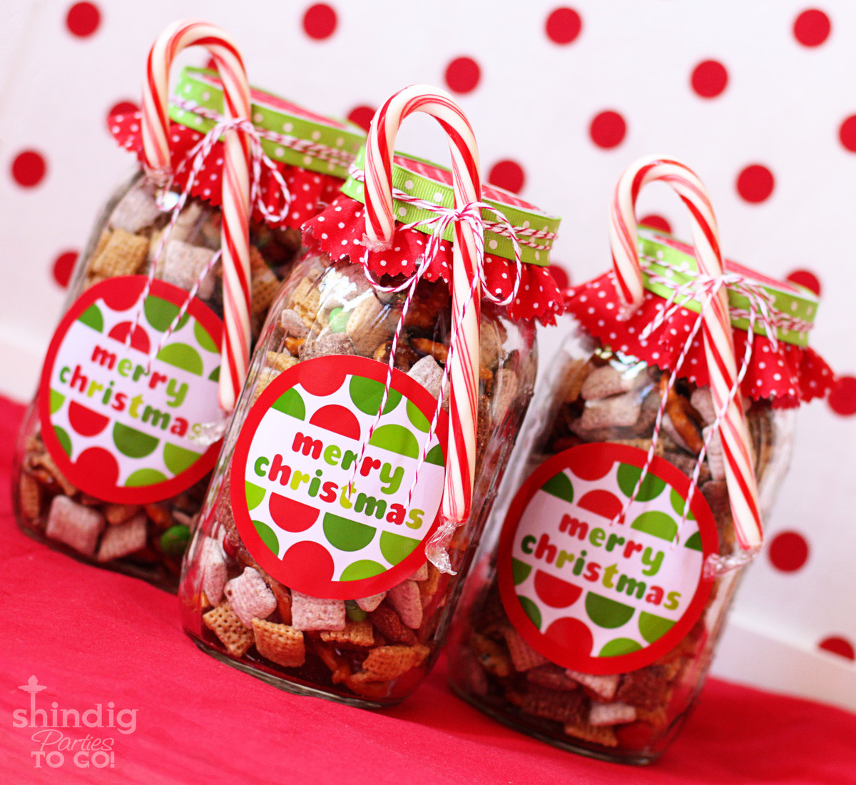 Candy Gifts For Christmas  How To Make Handmade Chex Mix Holiday Gifts & Bonus Free