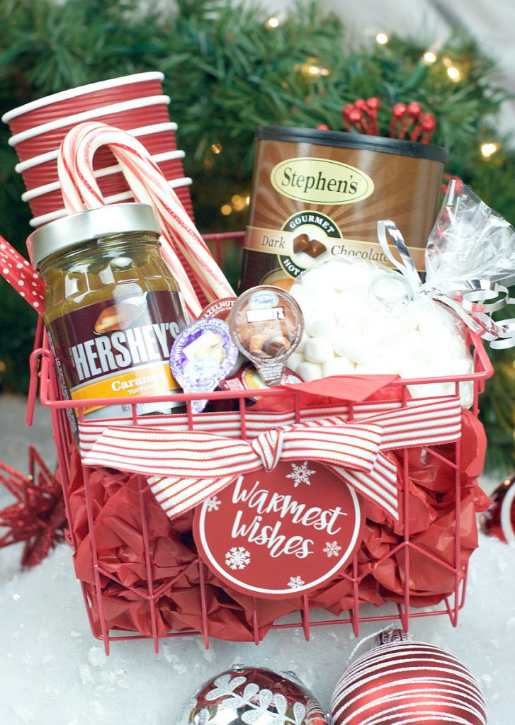 Candy Gifts For Christmas  Hot Chocolate Gift Basket – Fun Squared