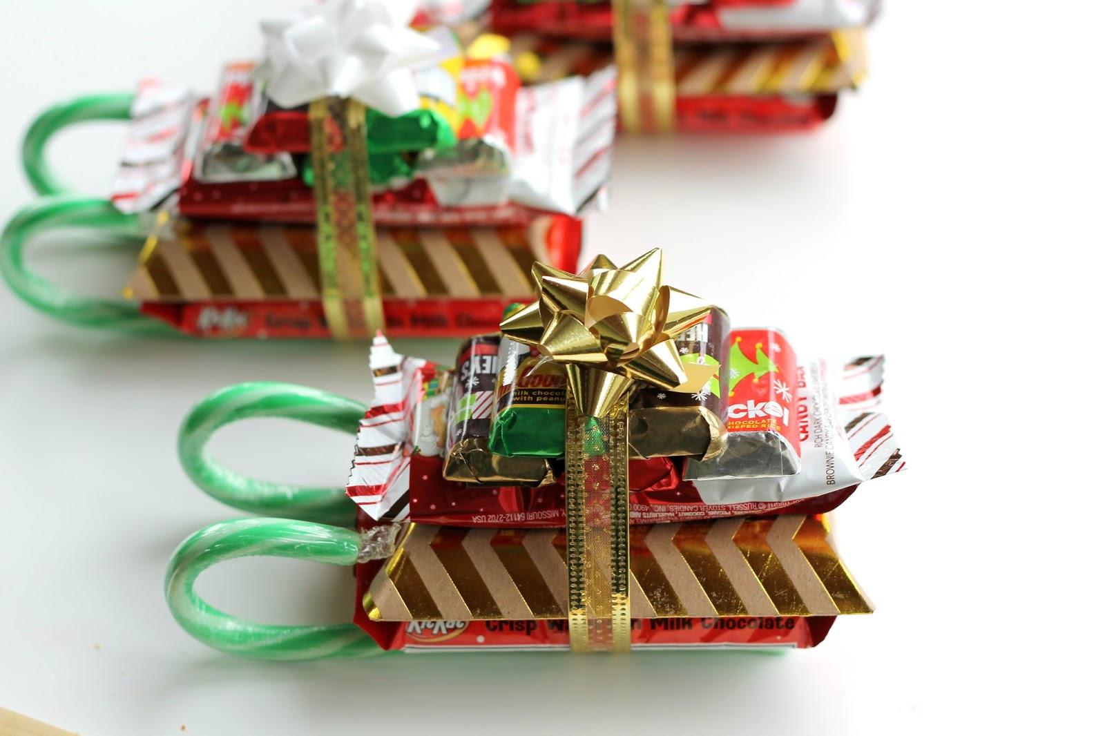 Candy Gifts For Christmas  DIY Candy Cane Sleighs Teacher Neighbor Friend or Kid